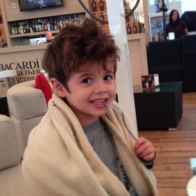 Сыну Санты Димопулос исполнилось 5 лет
