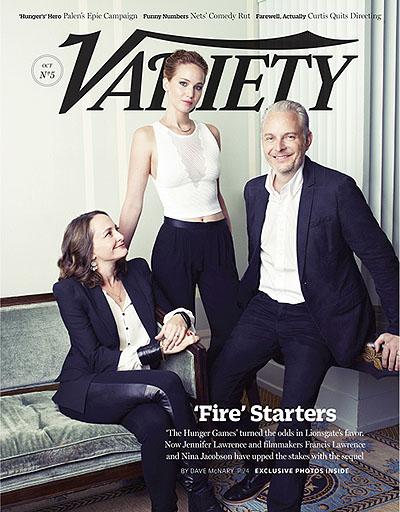 """Звезда и создатели """"Голодных игр"""" на обложке журнала Variety"""