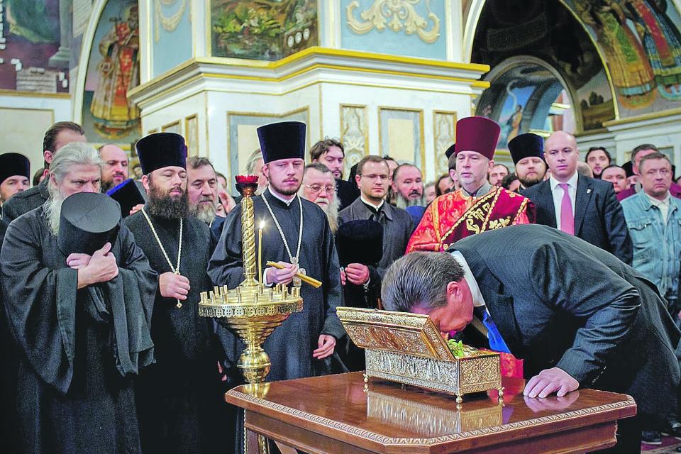 В Киев доставили силе Георгия Победоносца (ВИДЕО)