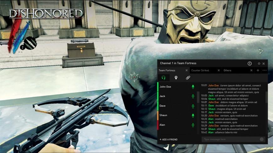 Платформа общения для игроков в компьютерные игры Razer Comms