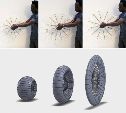 Студент изобрел колесо, подстраивающееся под качество дороги