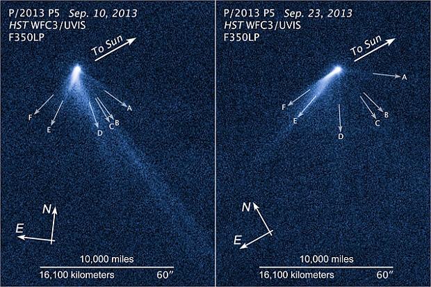 """У кометы за две недели """"выросло"""" шесть хвостов"""