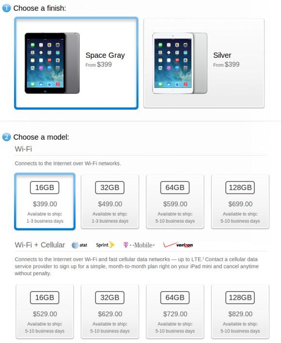 Новый планшет iPad mini с дисплеем Retina уже в продаже
