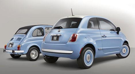 Фиат видоизменил седан 500 в ретроавтомобиль