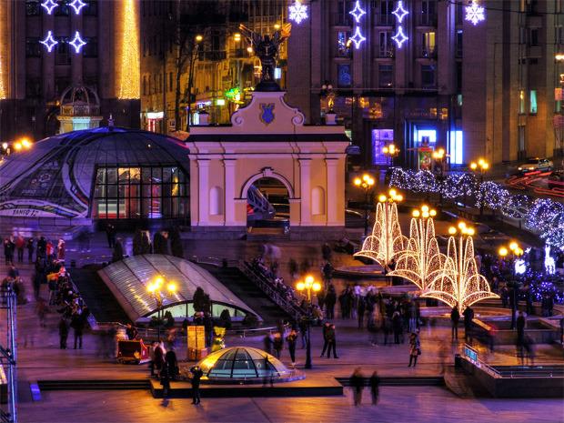 В центре Киева появится рождественский поселок
