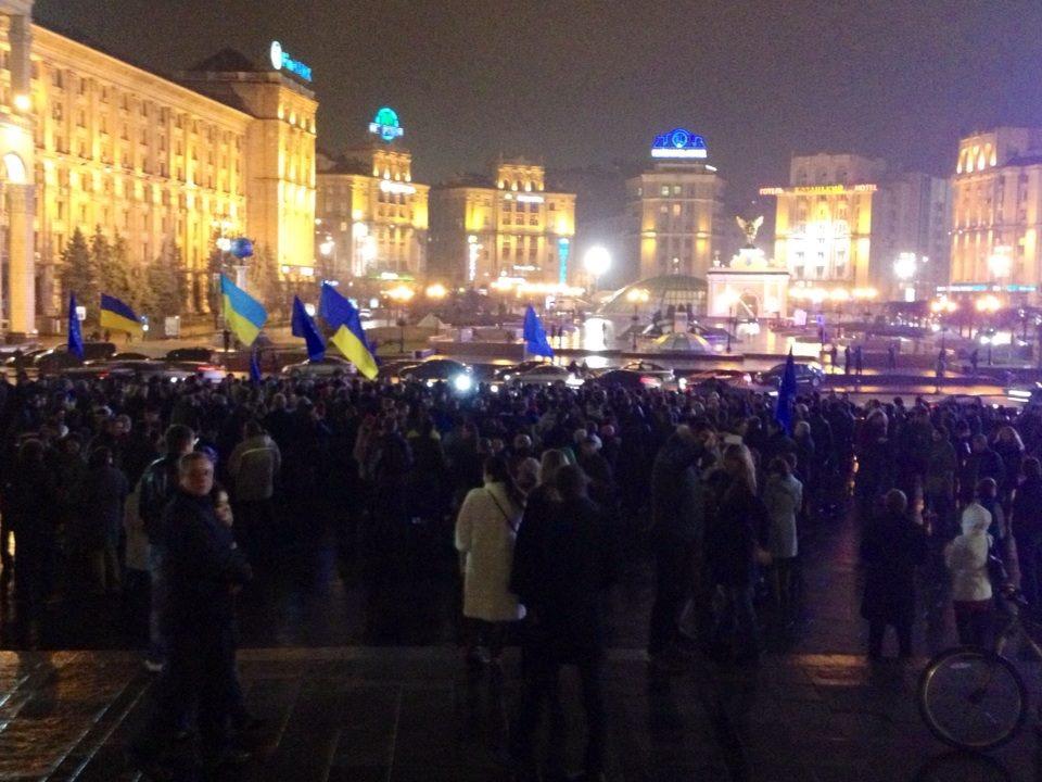 На Майдане митингуют 250 функционеров совместно с нардепами