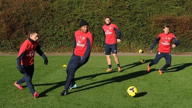 Анри тренируется с «Арсеналом»