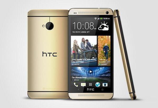 HTC One в золотом оттенке официально представлен