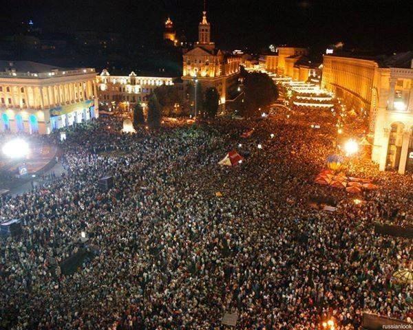 На Евромайдан в Киеве прибыли абитуриенты с Восточной Украины