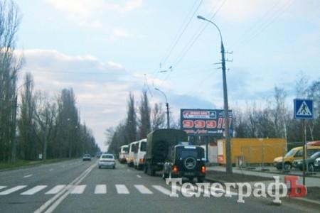 В Киев двигаются автобусы с боевыми