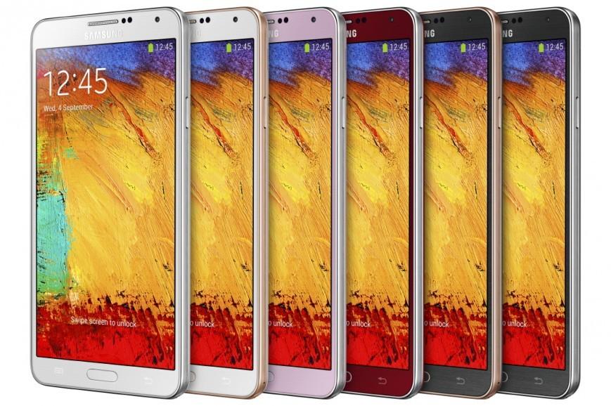 Галакси Note 3 в свежих оттенках к торжествам от «Самсунг»