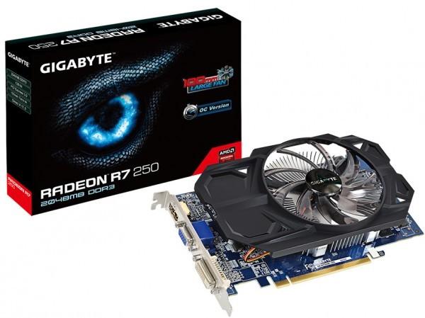 Gigabyte Radeon R7 250 OC - новинка для игроманов