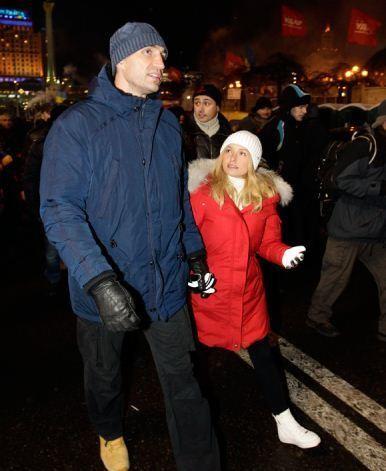 Жена Владимира Кличко выступила на Евромайдане