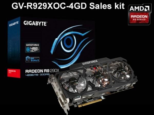 Нереференсный вариант карты памяти Radeon R9 290X от Gigabyte
