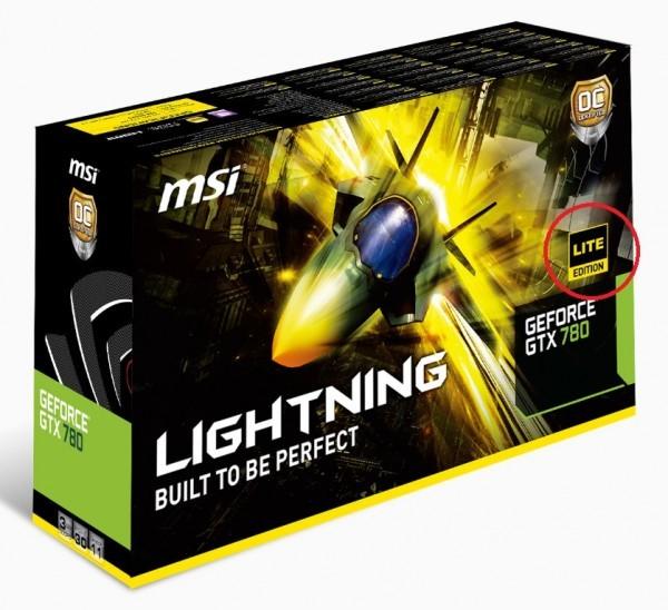 MSI делает облегченную модификацию модели GTX 780 Lightning