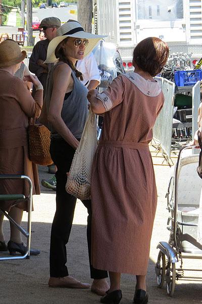 "Анджелина Джоли на съемках ""Непобежденного"" (ФОТО)"