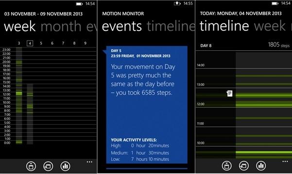 Шагомер для Lumia 1520: Nokia Motion Tracker