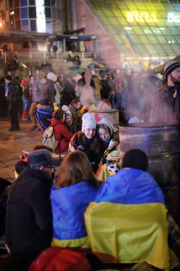 Репортаж: За 28 секунд до багряный зачистки на Майдане