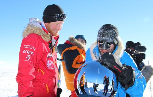 Принц Гарри добрался до Южного полюса