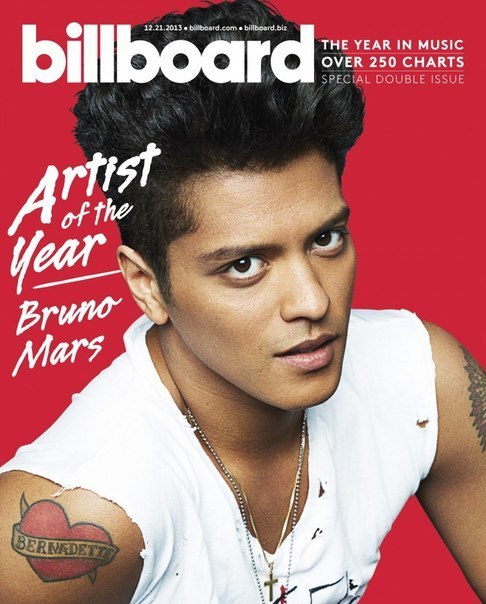 Billboard представил Бруно Марса актером года