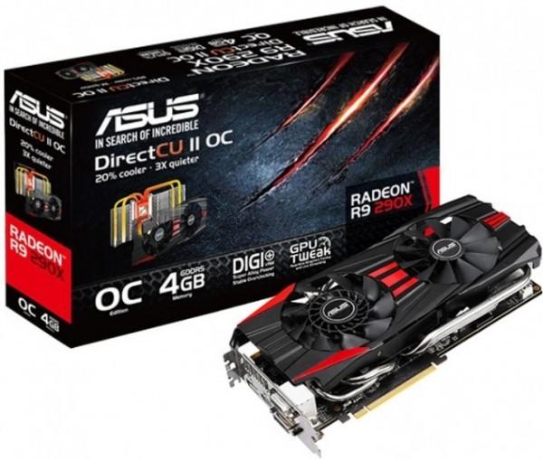 Детали о карта памяти ASUS Radeon R9 290X DirectCU II OC