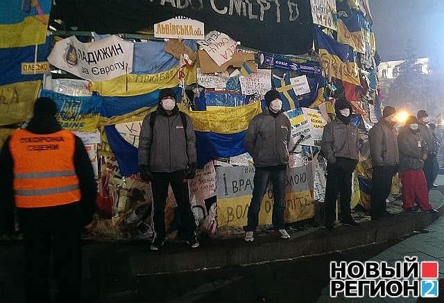 Ночью на Майдане пытались избавиться от Тимошенко