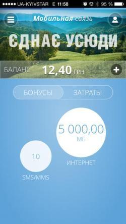 Организация «Киевстар» производит дополнение для iOS