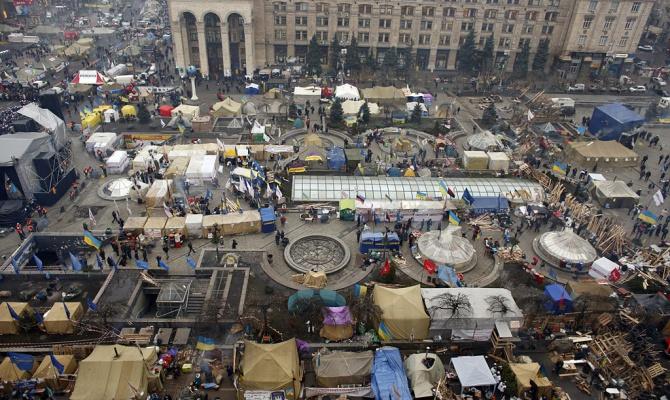 Еще одна ночь на Евромайдане прошла спокойно