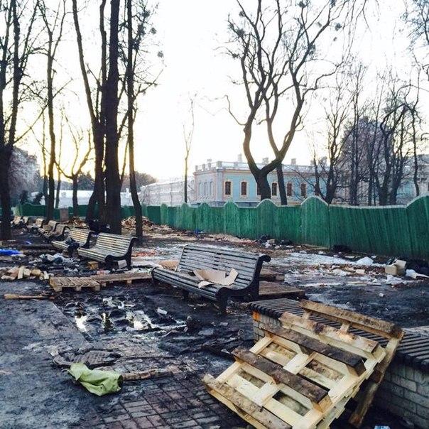 Экологов удивил Мариинский парк после митингов (ФОТО)