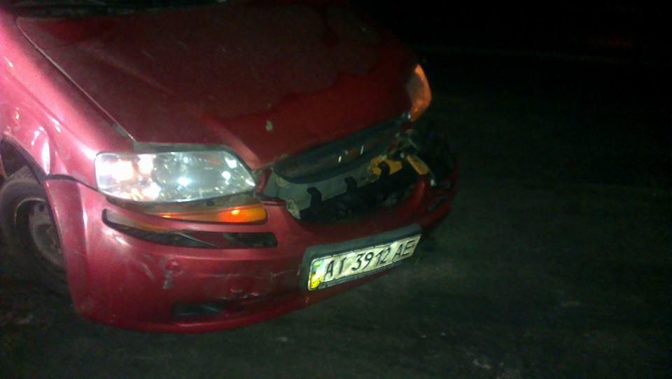 Преступники неоднократно таранили автомобиль Чорновил (ФОТО)