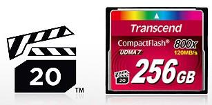 CF-карты Премиум Серии 800x от Transcend
