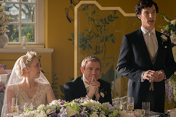 Свежие фото 3-го года: Шерлок на свадьбе Ватсона