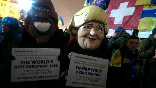 Евромайдан: Самый групповой Новый год в Европе! (ФОТО)