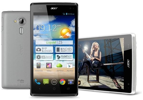 """Acer Liquid Z5: 5"""" телефон с помощью 2-ух SIM-карт"""