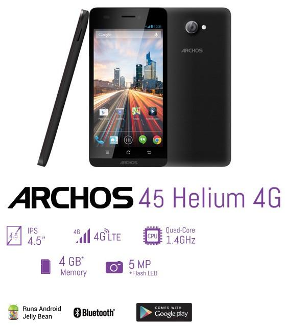 Archos 50/45 Helium 4G: смартфоны для сетей LTE