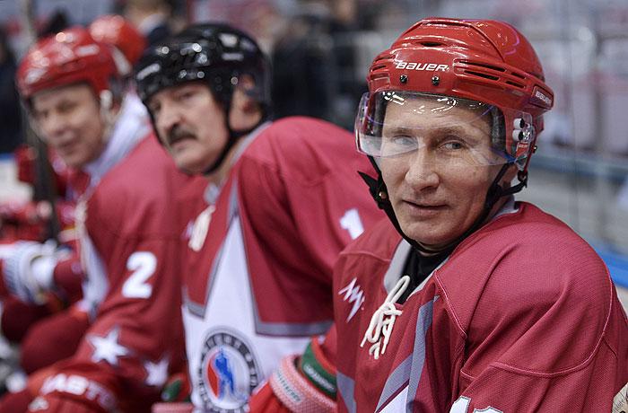 Путин и Лукашенко сыграли со звездами отечественныго хоккея
