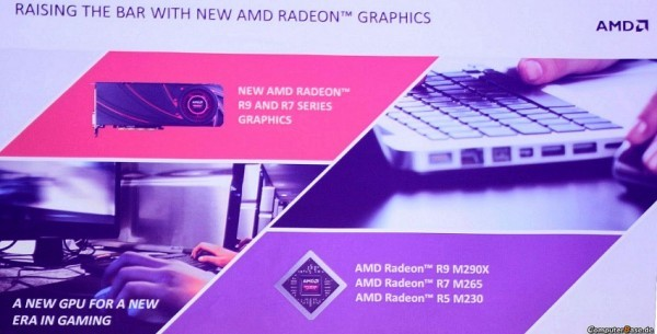 Видеокарты Radeon R9 M290X, R5 M230, R7 M265 от AMD