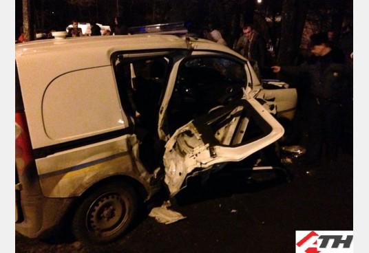 В Харькове патрульная машина устроила ДТП