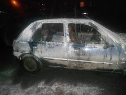 В Киеве за ночь сгорело 2 легковушки