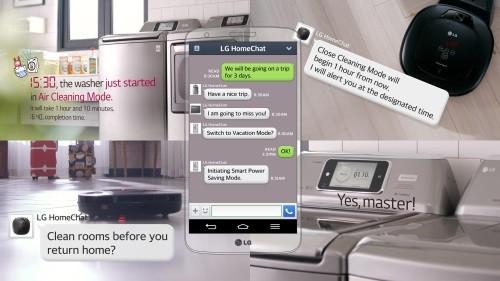 Регулирование домашней техникой с помощью LINE и HomeChat