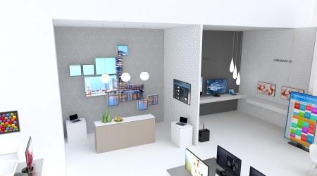 «Самсунг» показывает платные форматные экраны