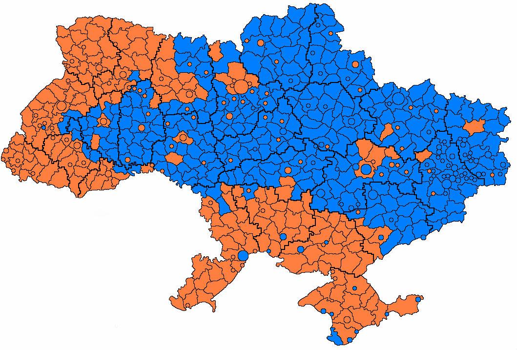 """Блогер сообщил карту """"пенсионной"""" Украины"""