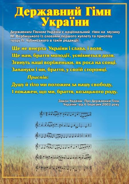 В школах Киевщины уроки будут начинать с гимна Украины