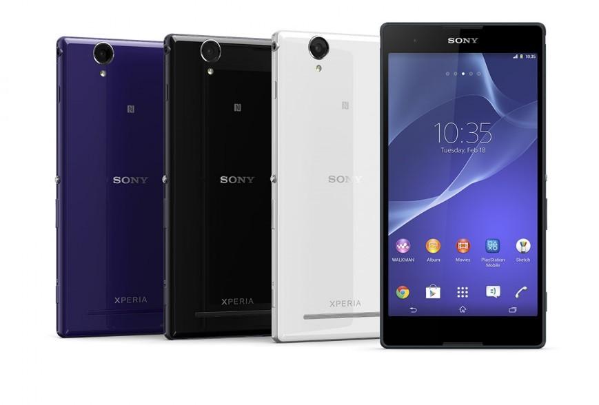 6-дюймовый телефон Xperia T2 Ultra от Сони