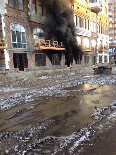 В Шевченковском регионе столицы случился пожар