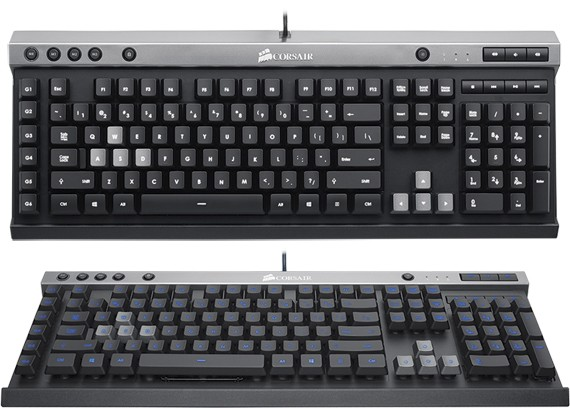 Corsair Raptor K40: клавиатура с многоцветной подсветкой