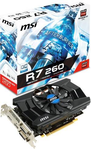 MSI продемонстрировала рассеянный адаптер Radeon R7 260 1GD5 OC