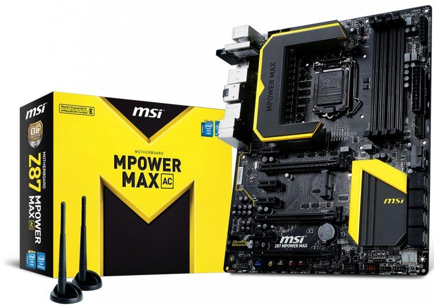 Оперативная память MSI Z87 MPower MAX AC