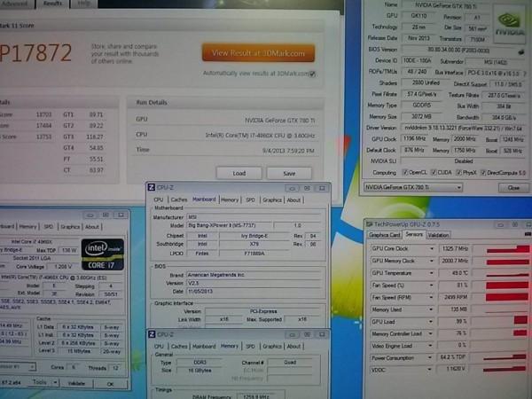 Испытания видеоадаптера MSI GeForce GTX 780 Ti Lightning