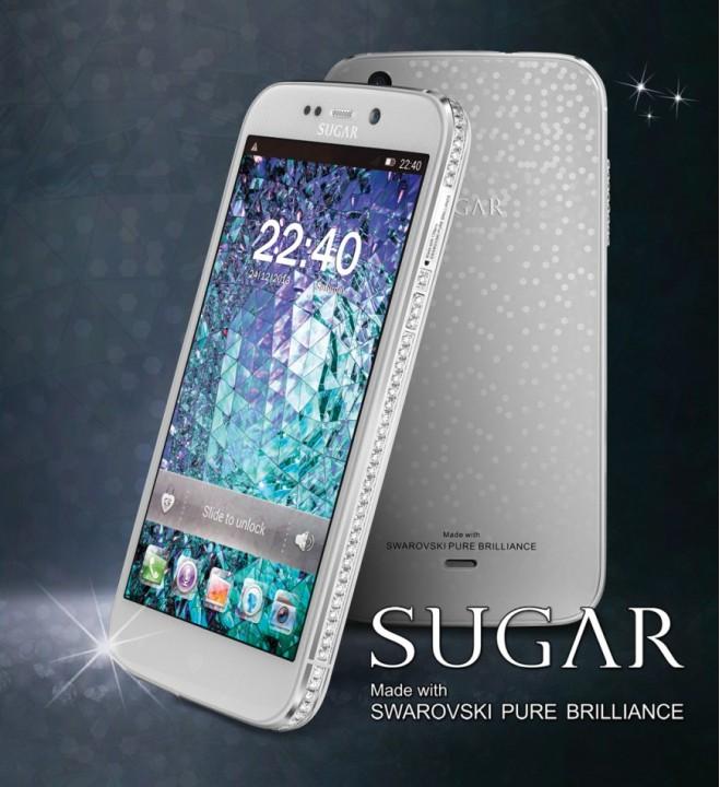 Женский телефон Sugar с кристаллами Swarovski